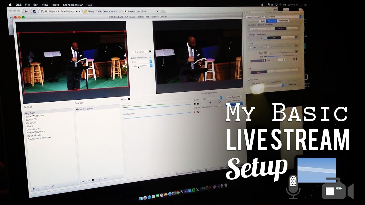 Easy OBS (Open Broadcaster) Live Streaming Church Setup