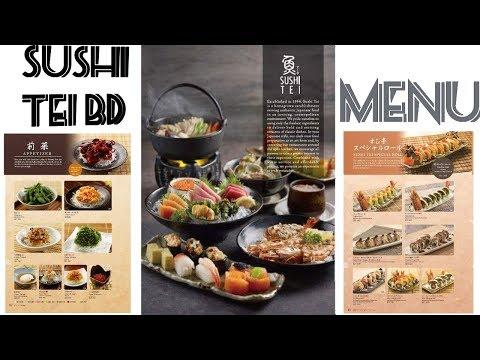 Sushi Tei BD   Japanese Authentic Food   Menu   Sushi Shashimi  Maki Tempura Wanmono Yakimono