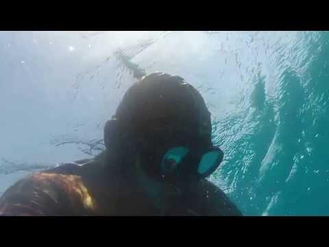 Freediving en punta arena, Baja California Sur, México.