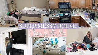 EXTREME CLEAN WITH ME | ACTUALLY MESSY HOUSE CLEANING MOTIVATION | REALISTIC SAHM SPEED CLEANING