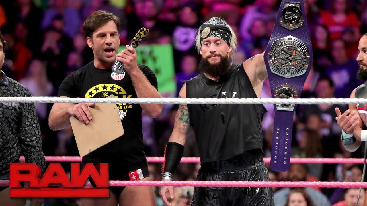 Drew Gulak speaks for WWE Cruiserweight Champion Enzo Amore: Raw, Oct. 23, 2017