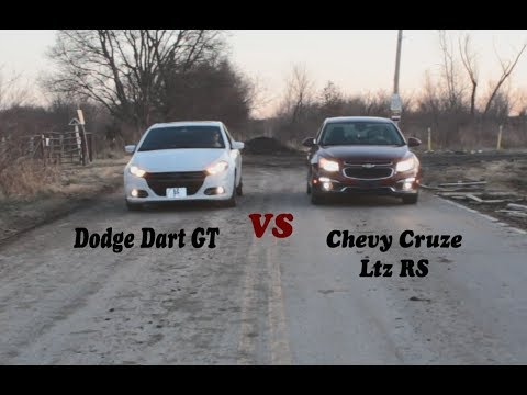 Race 2015 Chevy Cruze Ltz RS VS 2015 Dodge Dart GT/ Install Cold Air Intake