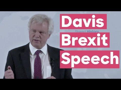 """David Davis """"Road to Brexit"""" speech in Vienna"""