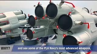 PLA navy fleet farewell ceremony