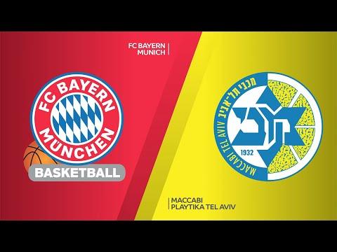 FC Bayern Munich - Maccabi Playtika Tel Aviv Highlights  Turkish Airlines EuroLeague, RS Round 26