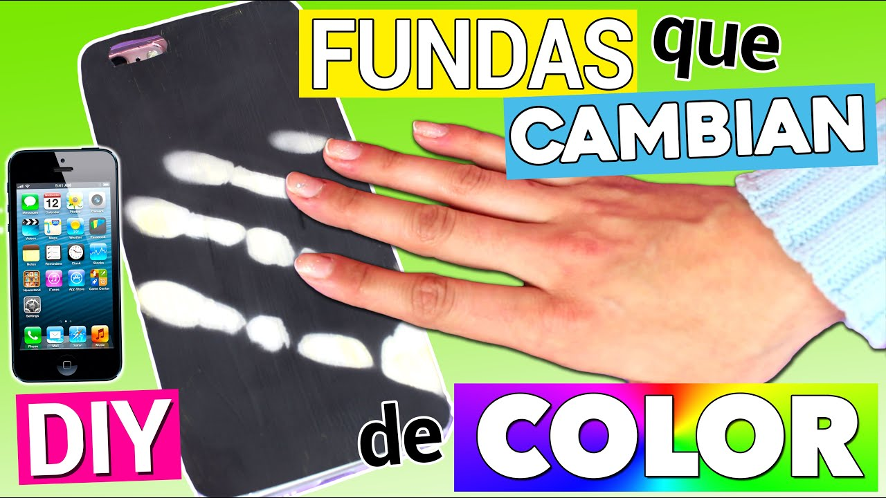 Fundas m gicas para m vil que cambian de color youtube - Decorar funda movil ...