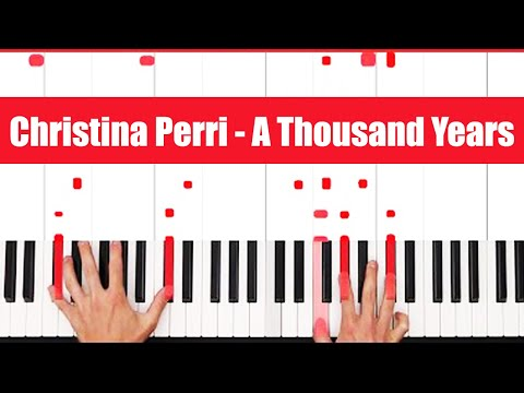 A Thousand Years Christina Perri Piano Tutorial – VOCAL
