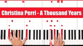 A Thousand Years Christina Perri Piano Tutorial – VOCAL