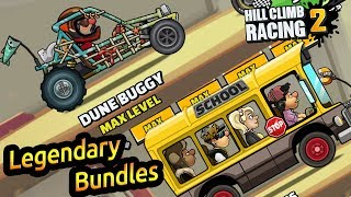Hill climb racing 2 bus & dune buggy legendary bundles