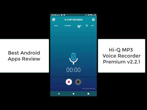Hi-Q MP3 Voice Recorder Premium 2.2.1, Best Android Apps Review