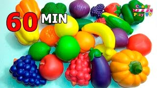 TOP Learn Names of Fruits and Vegetables Toy Collection | Learn To Count Vegetables Toys Compilation
