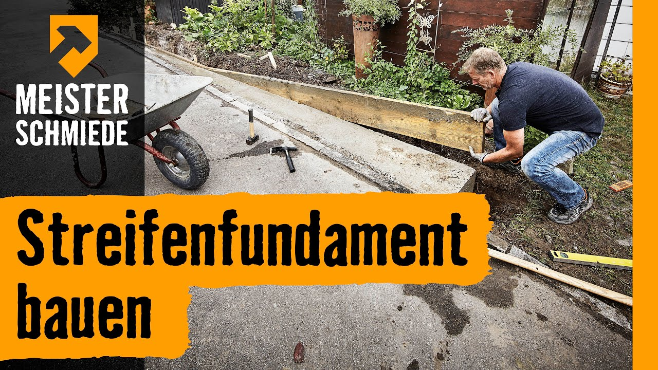 Fundament Am Hang Streifenfundament Bauen | Hornbach Meisterschmiede - Youtube