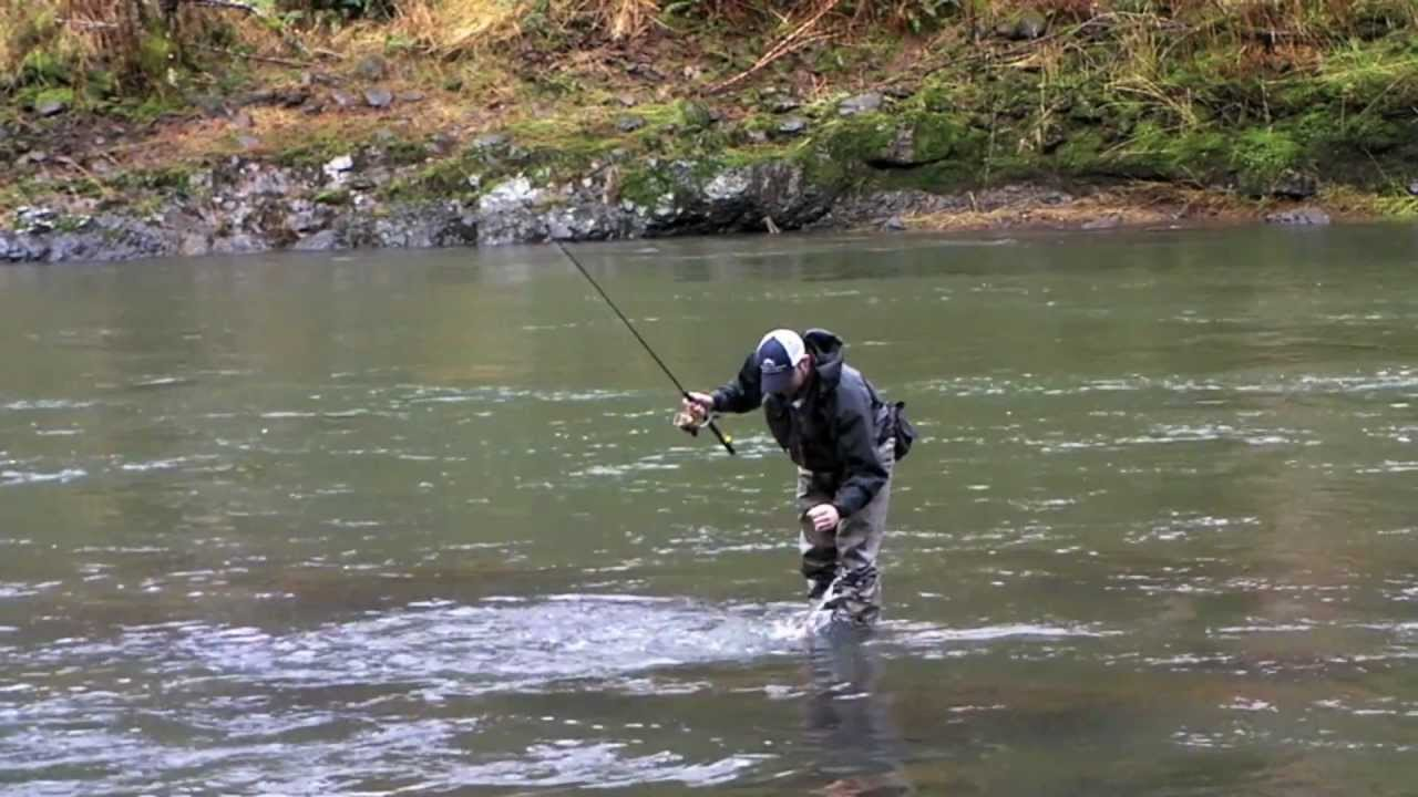 Winter steelhead fishing on the wilson river leaky for Wilson river fishing report