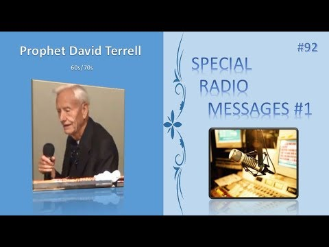 """92 - 60s70s """"Special Radio Messages 1"""" by David Terrell  AUDIO"""
