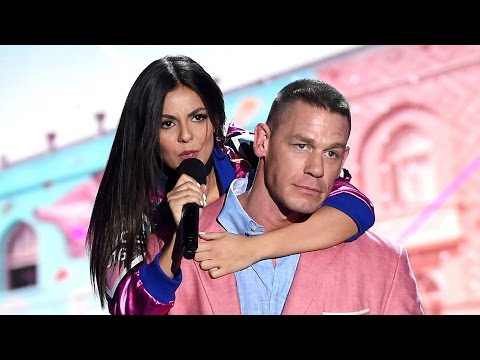 Victoria Justice Crashes John Cena