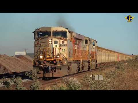 Iron Ore Trains Of Australia's Pilbara