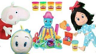 Peppa pig en español con Cleo y cuquin:guarderia infantil con juegos y juguetes plastilina play doh