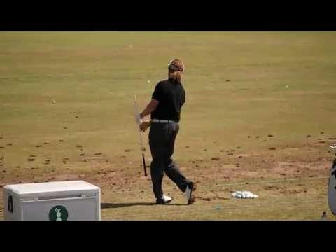 Miguel Angel Jimenez Practicing