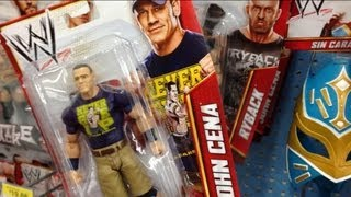 WWE FIGURE HUNT: Walmart Superstars Entrances series 2 wrestling action figures aisle Mattel store