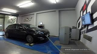 Peugeot 308 2.0 Bluehdi 150cv AUTO Reprogrammation Moteur @ 170cv Digiservices Paris 77 Dyno