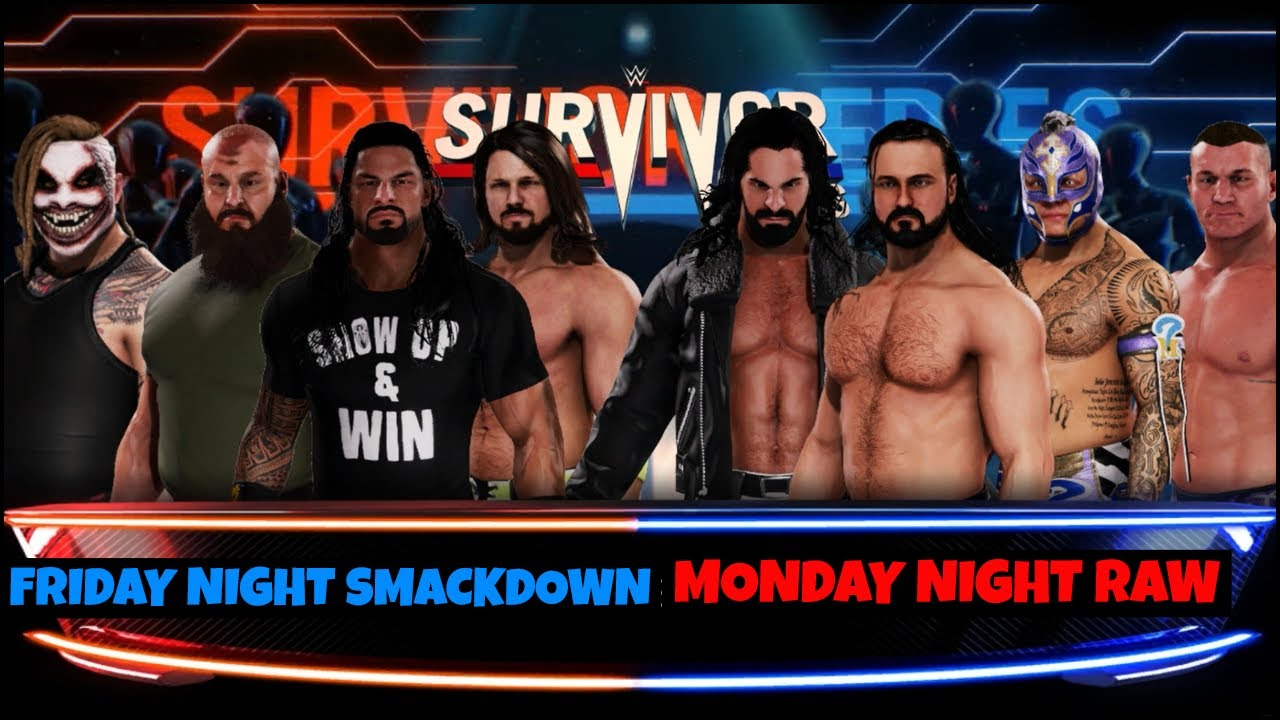 WWE 2K20 TEAM RAW VS TEAM SMACKDOWN ELIMINATION MATCH ! WWE 2K20 GAMEPLAY |