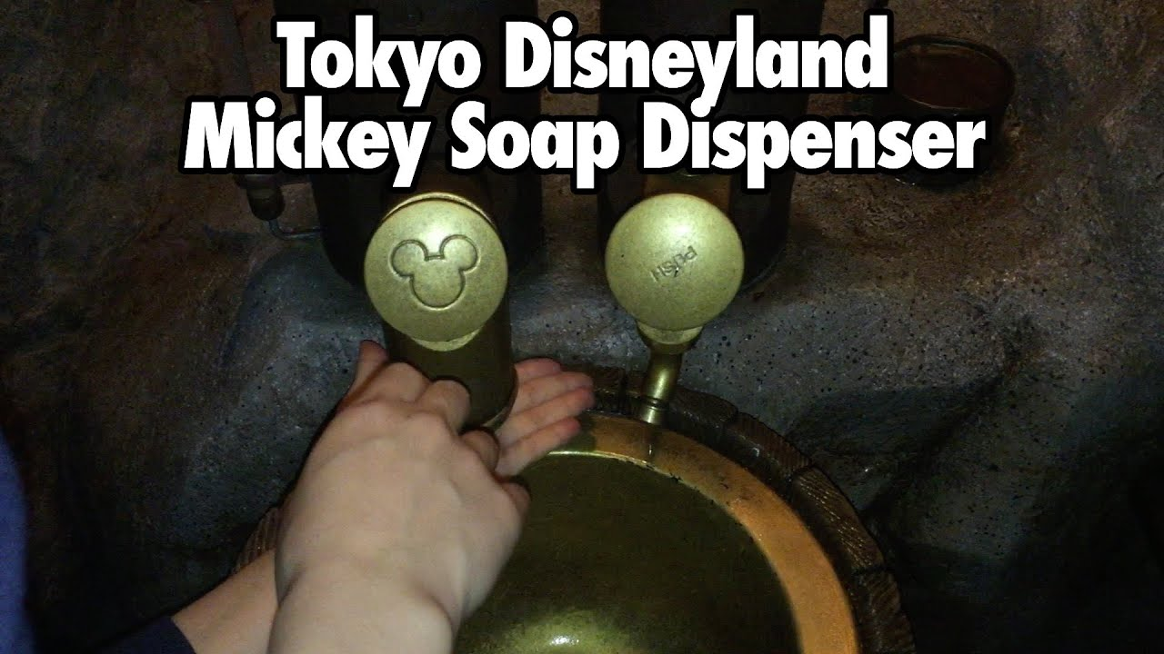 Tokyo Disneyland Resort Mickey Soap Dispenser Hand Washing