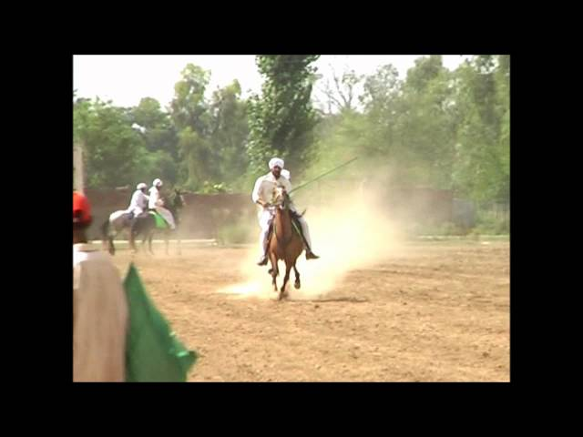 tent pegging accident Ch yasir iqbal gujjar