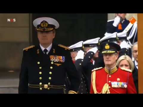 SPECIAL MILITARY CEREMONY - Royal Marines and Dutch marine corps inspected by Dutch king