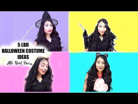 5 Little Black Dress Halloween Costume Ideas Youtube