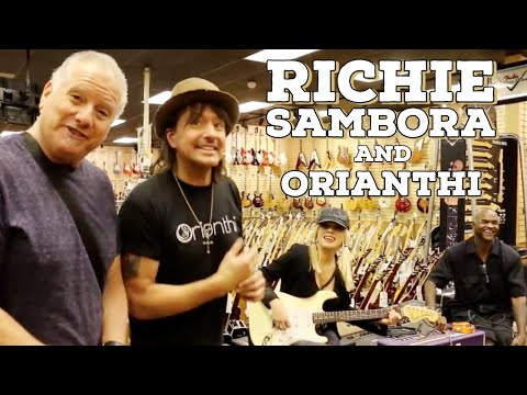 Richie Sambora and Orianthi shops at Norman's Rare Guitars