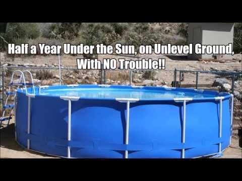 INTEX Above Ground Pool on Unlevel Ground & Working Great!