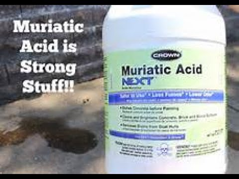 How To Remove Galvanized Coating With Muriatic Acid Youtube