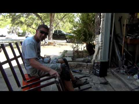 Welding a Double Bow Hunting Ladder Stand From Steel Fencing 1/2