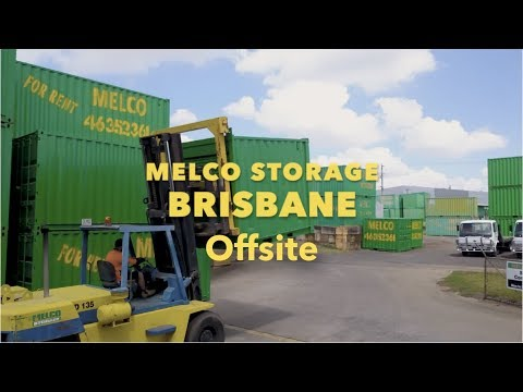 Melco Brisbane Offsite Container Hire delivered to your site YouTube