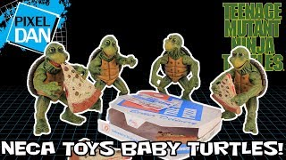NECA Toys TMNT Baby Turtles Accessory Set Figures Teenage Mutant Ninja Turtles 1/4 Scale Review