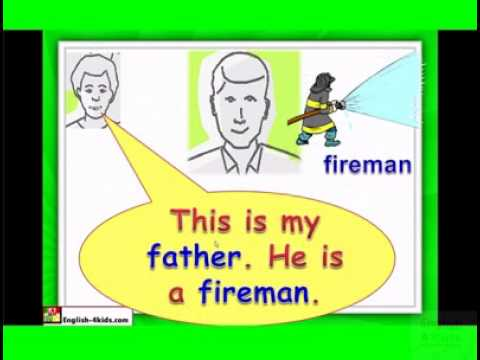 English for children,ESL Kids Lessons - Family members, dad, mum, brother.flv