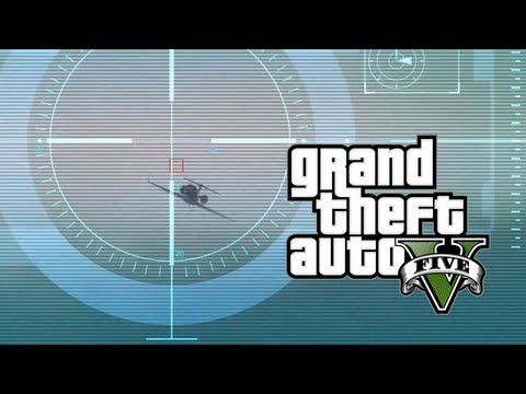 Shooting down a jet plane - GTA V