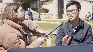 "Confident Yale Student vs Vegan Activist - ""Animals Don't Have Feelings"""