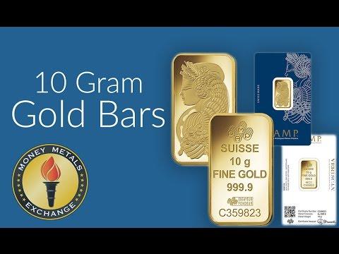 10 Gram Gold Bar | PAMP Suisse | Money Metals Exchange
