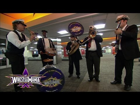 The Orleans Brass Band plays John Cena's theme song at Louis Armstrong International Airport