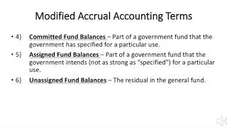 Modified Accrual basis of Accounting