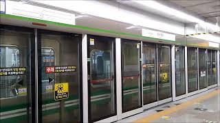 대구도시철도 2호선 영남대행 열차 경대병원역 출발