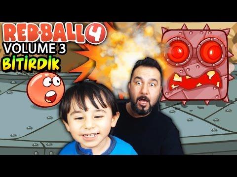 KIRMIZI TOP 4 VOLUME 3 BİTİRDİK!| RED BALL 4 OYNUYORUZ