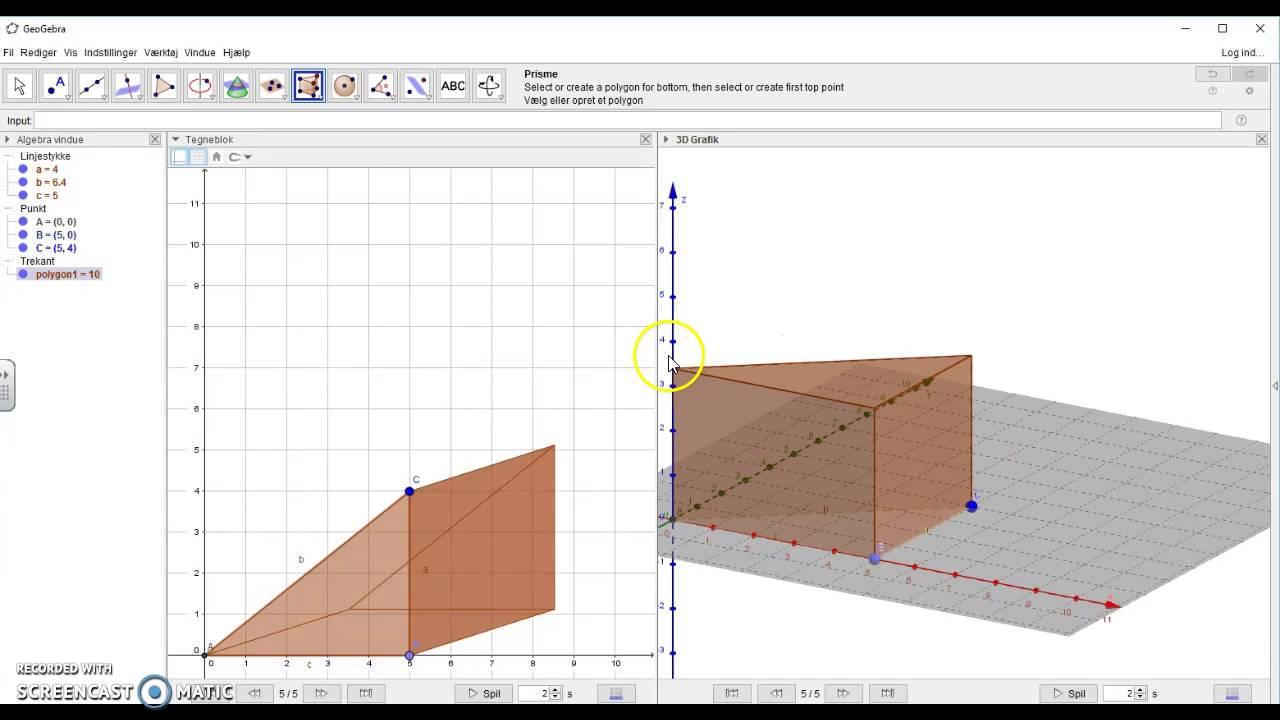Konstruktion af prismer i GeoGebra