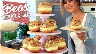Bienenstich Berliner Rezept   Gefüllte Creme- Pfannkuchen mit Mandelkrokant backen   Berlinenstich