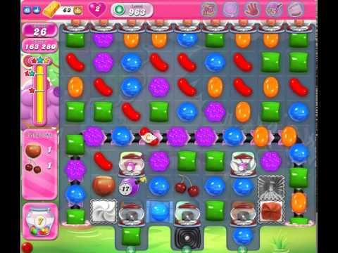 Candy Crush Saga Level 963 (No booster, 3 Stars)