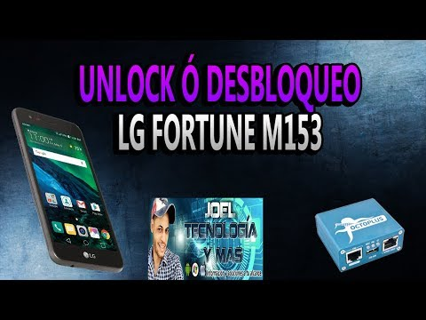 UNLOCK LG FORTUNE M153 CRICKET WIRELESS CON OCTOPUS BOX