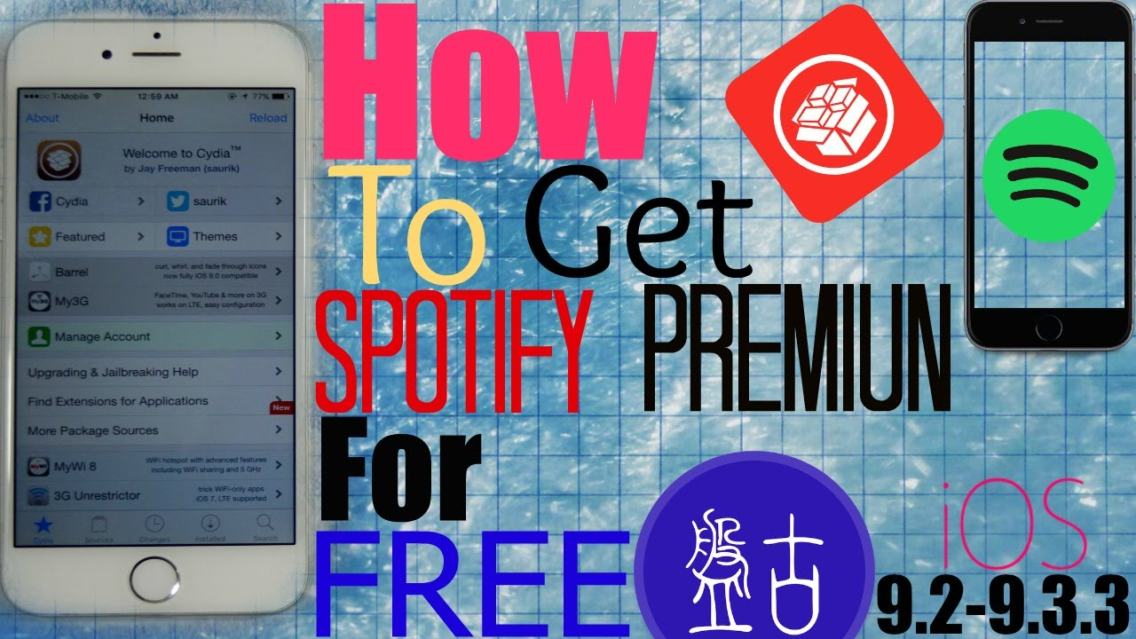 iOS 10 2/9 3 3/9 3 2/9 2/9 3: How To Get (SPOTIFY PREMIUM) For FREE  Unlimited Skips, No Ads + More