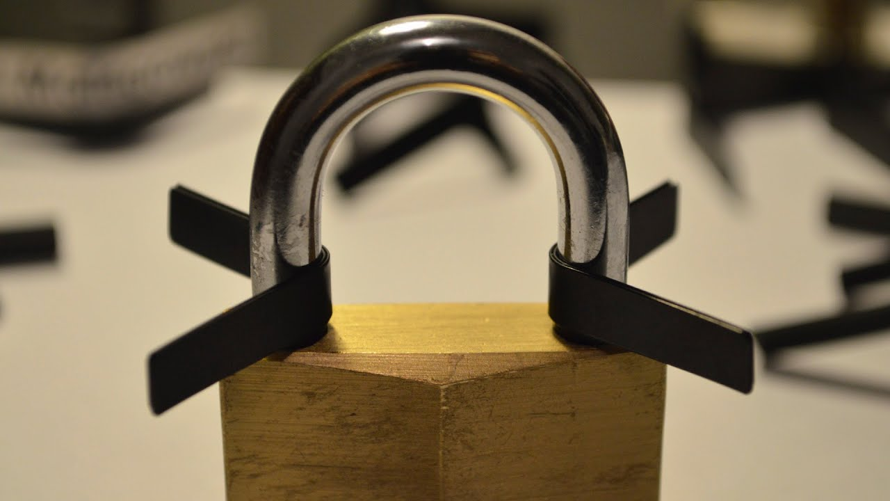 how to open locks with padlock shims youtube. Black Bedroom Furniture Sets. Home Design Ideas