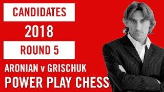 World Chess Candidates 2018 | Berlin | Round 5 - Aronian v Grischuk